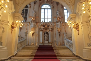 La escalera principal
